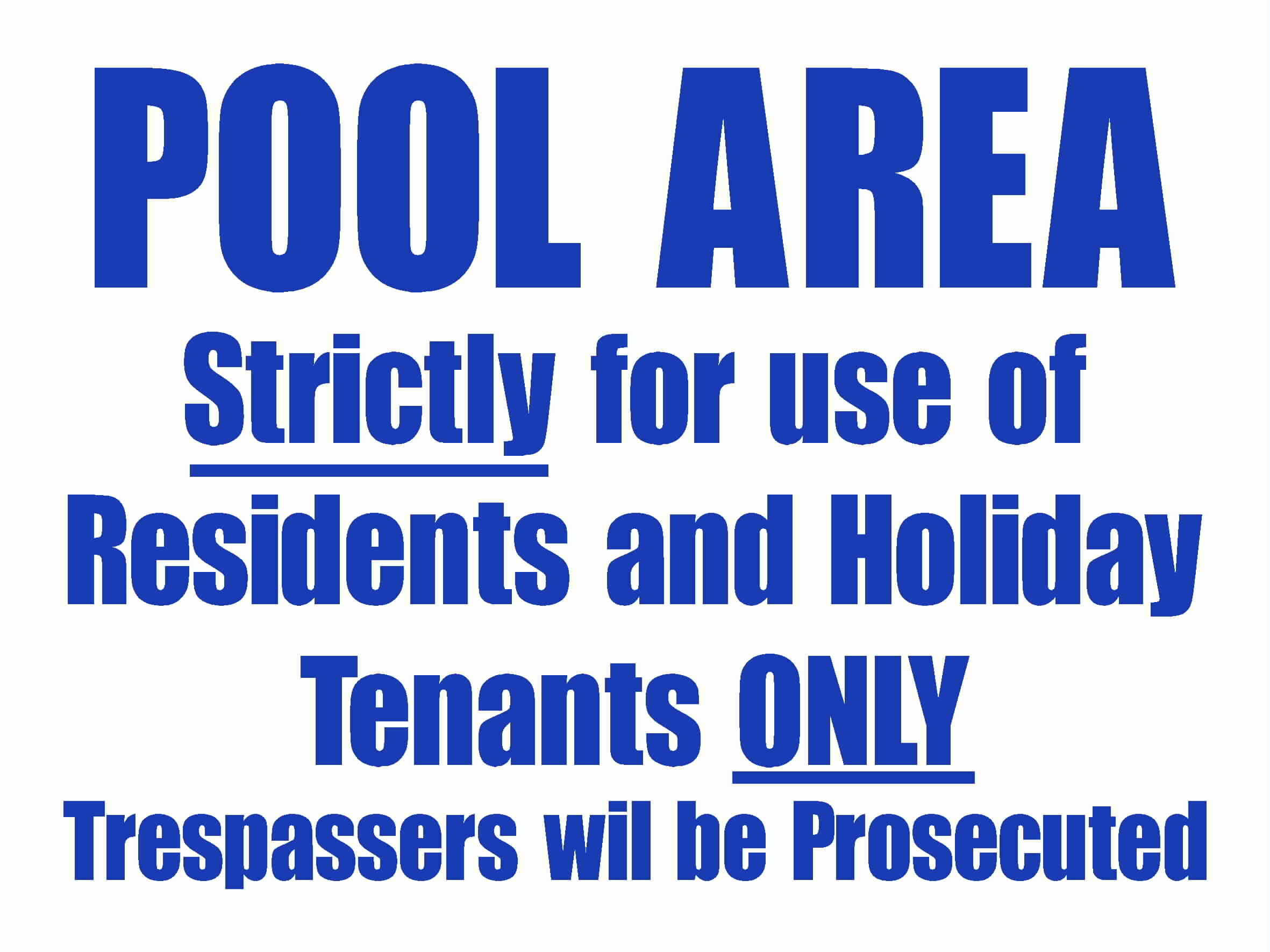 Sign Pool Area