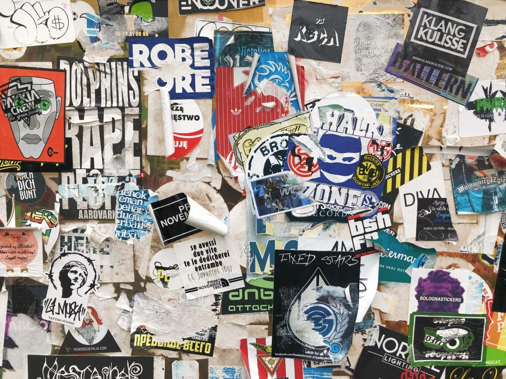 Paper Stickers on a Wall dont last as long as Vinyl Stickers