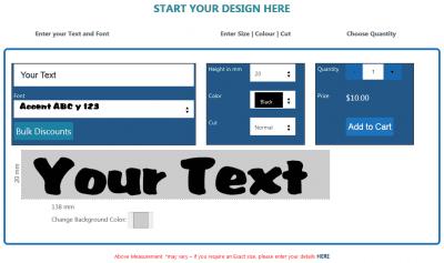 Sticker Picker Custom Lettering Designer